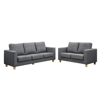 Chesterfield  Sofa Linen Fabric Dark Grey