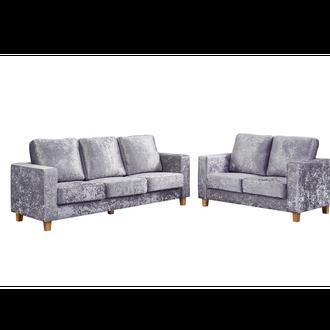 Chesterfield  Sofa Crushed Velvet Silver