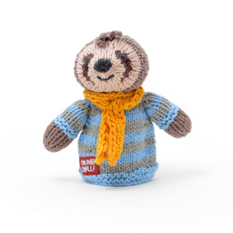 Sloth Toddler Finger Puppet in Organic Cotton