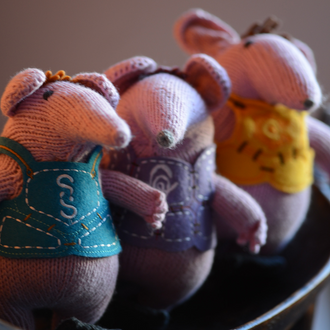 Hand Knitted Clanger Soft Toys