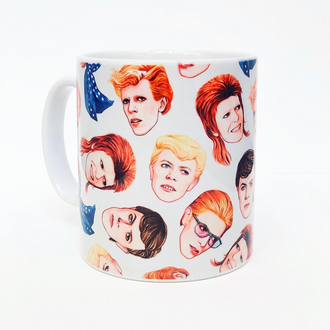 Fabulous Bowie mug and plate by Helen Green