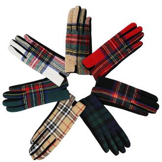 Traditional Tartan Gloves - Women