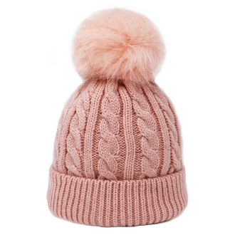 Kids Hat with Single Pompom