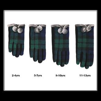 Traditional Children Tartan Gloves