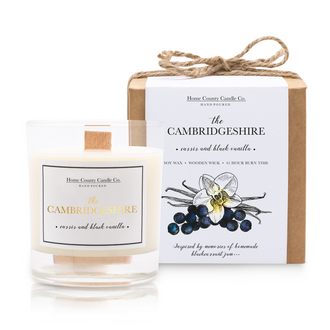 THE CAMBRIDGESHIRE - CASSIS AND BLACK VANILLA SOY CANDLE