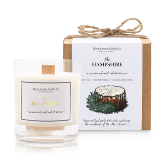 THE HAMPSHIRE - ROSEWOOD AND VELVET MOSS SOY CANDLE