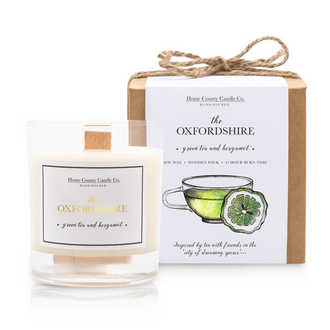THE OXFORDSHIRE - GREEN TEA AND BERGAMOT SOY CANDLE