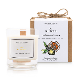 THE SUFFOLK - AMBER AND SWEET ORANGE SOY CANDLE