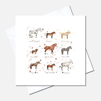 Horse Breeds Greetings Card