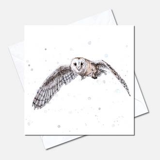 In Flight Greetings Card