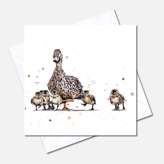 Mother Duck Greetings Card