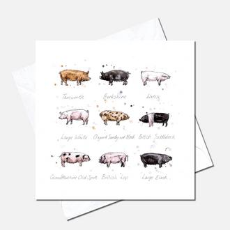 Oink Greetings Card