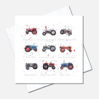 Tractors Greetings Card