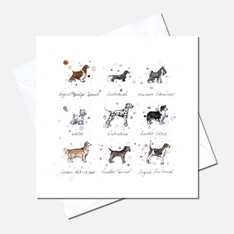 Dog Breeds Greetings Card