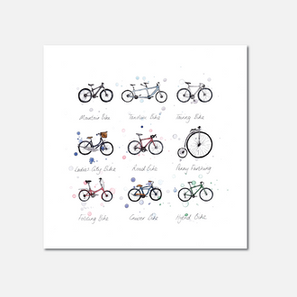 Bicycles Limited Edition Print