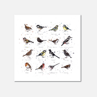Garden Birds Limited Edition Print