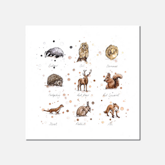 Woodland Wildlife Limited Edition Print