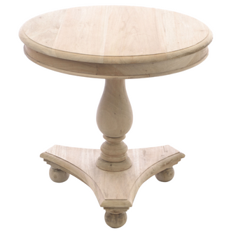 Low Round Wine Table with Bun Feet
