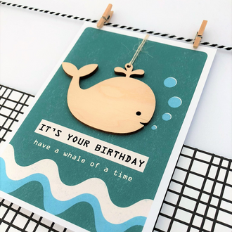 Birthday Card - Whale