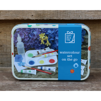 Gift in a Tin - Watercolour set on the Go
