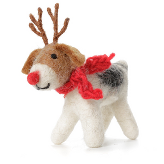 Rudolph Fox Terrier Decoration