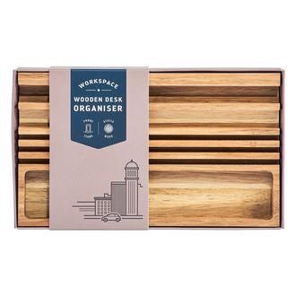 Gentlemen's Hardware Wooden Desk Organiser