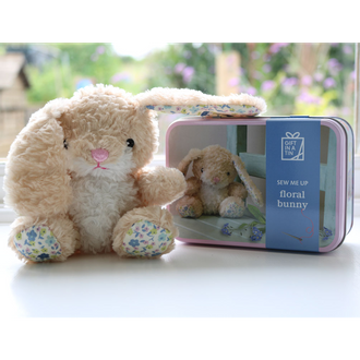 Gift in a Tin - Sew me Up Floral Bunny