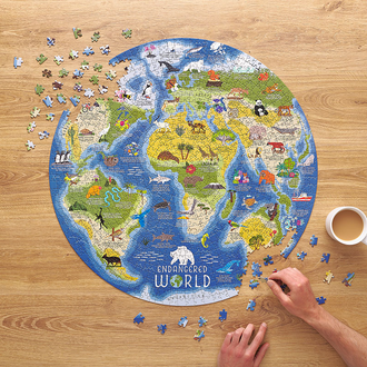 Ridley's Games Endangered World 1000 Piece Jigsaw Puzzle