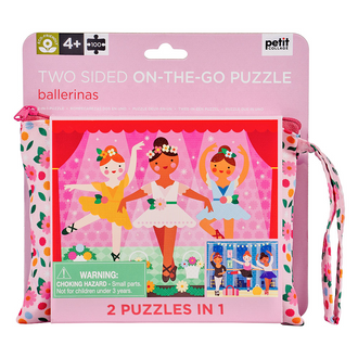 Petit Collage Two Sided On The Go Puzzle - Ballerina