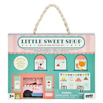 Petit Collage Wind Up and Go Playset - Little Sweet Shop