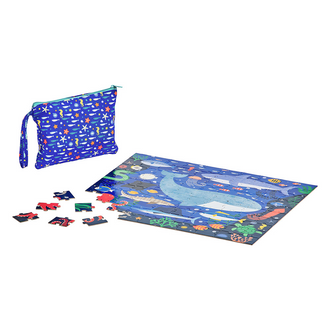 Petit Collage Two Sided On The Go Puzzle - Under The Sea