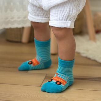 Petit Collage Organic Toddler Socks - Trucks