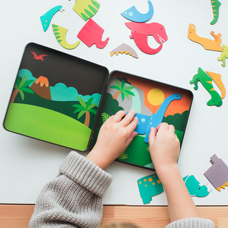 Petit Collage Magnetic Playset Dinosaurs