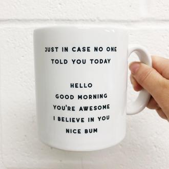 Nice Bum Mug by Rachel Waite