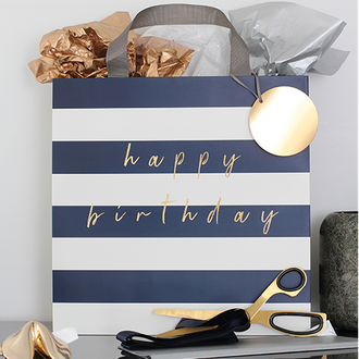 Navy Stripe - Giftware Collection