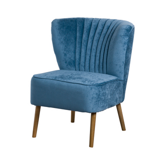Teal Ribbed Cocktail Chair