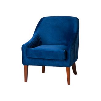 Navy Velvet Modern French Style Chair