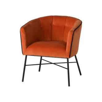 Rust Velvet Urban Tub Chair