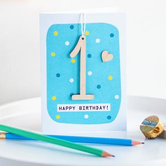 Age 1 Birthday Card