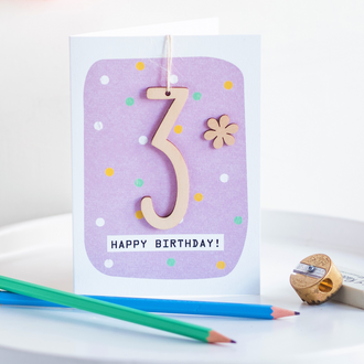 Age 3 Birthday Card