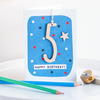 Age 5 Birthday Card