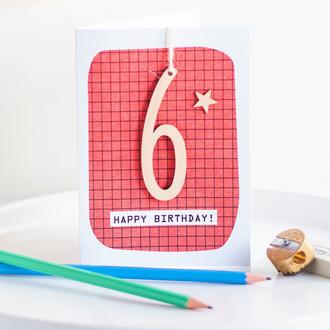 Age 6 Birthday Card