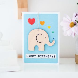 Birthday Card - Elephant