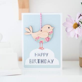 Keepsake Card - Birthday Bird