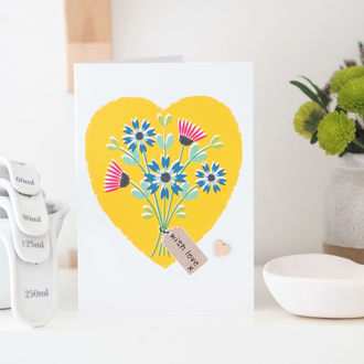 Greetings Card - With Love