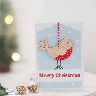 Greetings Card - Christmas Robin