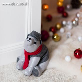 Christmas Polar Bear Doorstop