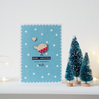 Christmas Robin Card for Wife