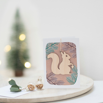 Winter Squirrel Card