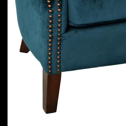 Armchair Blue Velvet